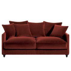 canap en tissu velours 1 5 place pompadour hanjel gris orage for the home pinterest. Black Bedroom Furniture Sets. Home Design Ideas