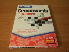 CROSSWORDS & MORE WORDSEARCH PUZZLES PC CD ROM GAME #EXPERTSOFTWARE