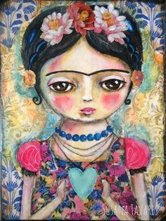 Frida Kahlo original painting fine art by Susana Tavares