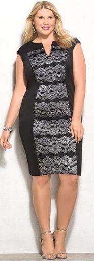 Стильная одежда для полных дам: деловые платья и костюмы. Фото