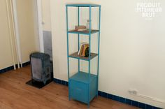 Got this enameled metal shelf unit to hold some appliances etc in kitchen. (Originally got a stainless steel thing from IKEA but couldn't stand the poor quality) Metal Shelves, Ladder Bookcase, Style Vintage, Ikea, Appliances, Pantry, Kitchen, Shelf, House