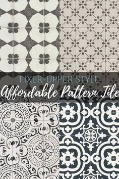 Get the Fixer-Upper look! The best affordable pattern tile to get the perfect farmhouse style on a budget! Get the Fixer-Upper look! The best affordable pattern tile to get the perfect farmhouse style on a budget! Country Farmhouse Decor, Vintage Farmhouse, Modern Farmhouse, Farmhouse Style Bathrooms, Primitive Bathrooms, Farmhouse Style Kitchen, Farmhouse Plans, Rustic Decor, Fixer Upper Kitchen