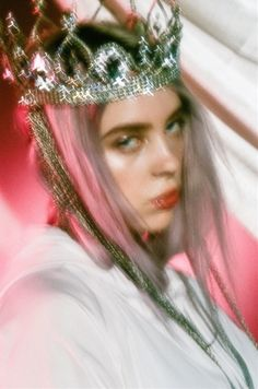 Love, lockscreen and billie eilish on we heart it - the app to get lost in Billie Eilish, Guy, Crown, Pink Aesthetic, Me As A Girlfriend, Wall Collage, Aesthetic Pictures, Portrait, Music Artists
