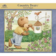 Country Bears Wall Calendar: Rural charm and cuddly characters have been the keys to Kogut's happiness as an artist. A devoted mother, Teresa is inspired by the joy and playfulness her children provide, and she is able to sprinkle this folksy joie de vivre throughout her work.  $15.99  http://calendars.com/Toys-and-Teddy-Bears/Country-Bears-2013-Wall-Calendar/prod201300000594/?categoryId=cat00143=cat00143#