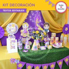Rapunzel: decoración de fiesta - Todo Bonito