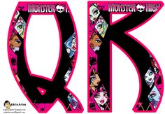 Alfabeto con caras de las Monster High. | Oh my Alfabetos!