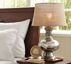 a8f1d71fac78 Antique Mercury Glass Table  amp  Bedside Lamps  potterybarn Bedside Table  Lamps