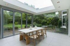 Glass doors leading to garden