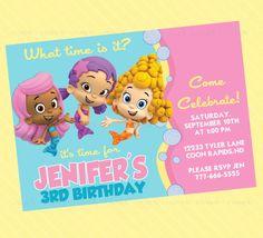 Bubble Guppies invitations.