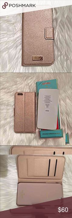 Kate spade rose gold flip case Brand new. Retails $70. Shipping is firm. Rose gold. Authentic!! Kate spade New York flip case for iPhone 6s Plus and iPhone 6 Plus 🚫 I do not trade 🚫 I do not model the items in my closet 🚫 no offline payments 🚫 no other accounts  ✔ open to REASONABLE offers please use the offer button 💖 kate spade Accessories Phone Cases