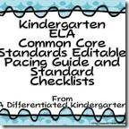 Kindergarten Common Core Editable Pacing Guide and Standard Checklists Common Core Language Arts, Common Core Ela, Common Core Standards, Student Teaching, Teaching Resources, Teaching Ideas, Classroom Organization, Classroom Management, Common Core Checklist