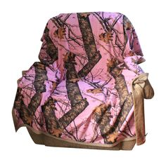 """Pink Mossy Oak Realtree Blanket 56x70"""" Microsuede Camo Front with Soft Plush Microfur Backing Camo Chique Custom Licensed Camouflage by CamoChiqueBoutique on Etsy"""
