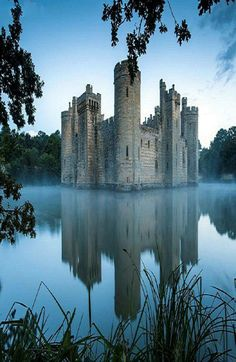Bodiam Castle, a 14th Century moated castle near Robertsbridge in East Sussex