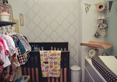 Walk-in closet turned into baby's room