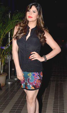 Zareen (Zarine) Khan at Sajid Khan's birthday bash. #Bollywood #Fashion #Style #Beauty #Hot #Sexy