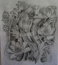 Nice design. koi forearm tattoo by ~TeroKiiskinen on deviantART