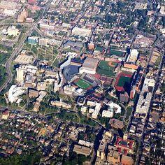 Aerial shot of University of Cincinnati.  #University #Cincinnati #Ohio