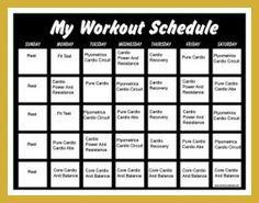 P90X2 Workout Schedule Printable | DOWNLOAD COMPATIBLE DVD ...