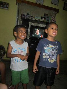 Sponsorship Awareness Brigade 2012:    Johnathan and Hugo from the Padma house at Nuevo Paraiso!