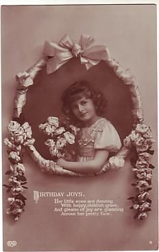 E A Schwerdtfeger Postcard - Birthday Joys Birthday Postcards, Working With Children, Joy, Glee, Being Happy, Happiness