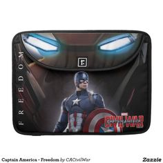 Captain America - Freedom Sleeves For MacBook Pro. Regalos, Gifts. #fundas #sleeves