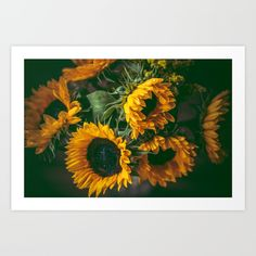 Sunflowers Art Print by mariecarrphotography Sunflower Art, Sunflowers, Tapestry, Art Prints, Artwork, Home Decor, Hanging Tapestry, Art Impressions, Tapestries