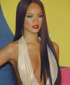 Rihanna's long hair