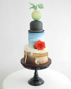 Surrealist-inspired cake