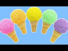 LEARN COLORS Rainbow Play Foam Ice Cream Cone Surprise Toys Shopkins Finding Dory FashEms! - YouTube