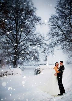 The perfect snowy wedding at The Great Barn