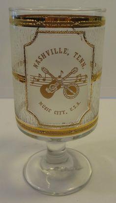 Music City, U. Mason Jar Wine Glass, Nashville, Urban, City, Tableware, Music, Gold, Dinnerware, Musik