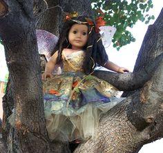 """Fall Ballerina Fairy Costume for American Girl Dolls 18"""" Faerie. $125.00, via Etsy."""
