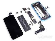 iPhone 5C gets Taken Apart By iFixit   Geeky Gadgets