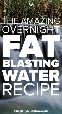 Wish there was some magical water that could help you lose weight overnight? There is! This fat blaster water recipe will help you lose weight as you sleep.