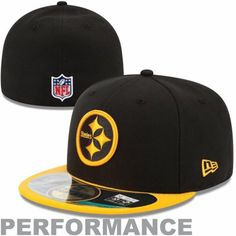 New Era Pittsburgh Steelers Thanksgiving Day 59FIFTY Fitted Performance Hat - Black/Gold