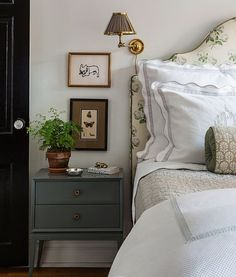 Warm & cozy room Henry & Co. ~ Henry & Co Design is a boutique interior design firm started by Elle Clymer and Stephanie Woodmansee based in New York City. Boutique Interior Design, Suites, Guest Bedrooms, Blue Bedrooms, Master Bedrooms, Guest Room, Beautiful Bedrooms, House Beautiful, My New Room