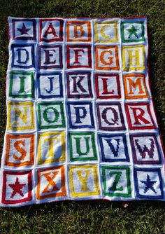 Crochet Alphabet Blanket Pattern