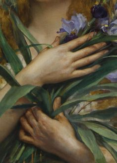Georges Roussin,Ophelia (detail)