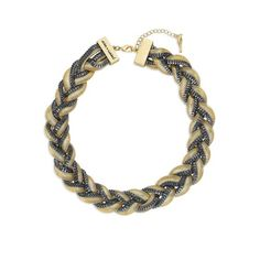 Two Tone Braided Snake Chain Collar