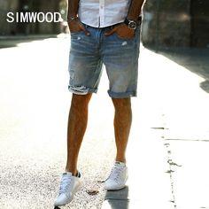 SIMWOOD 2017 Autumn New Casual Denim Shorts
