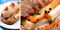 Sanduba Saudável - Abacaxi, Queijo Branco, Linhaça, Gergelim preto e branco, cream cheese, mel, hortelã no Pão Australiano !