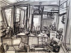 John Bokor-Sallies Kitchen Interiors, Abstract, Drawings, Artwork, Artist, Kitchen, Painting, Summary, Work Of Art