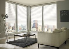 Made to measure Sheer Horizon Blinds For Your Windows | Illumin8 Blinds |  Reina Magnolia in Cream Colour in Open Position