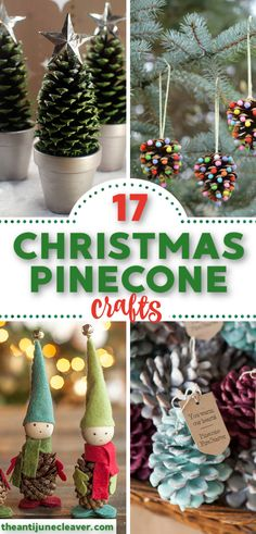 17 Fun & Easy Christmas Pinecone Crafts and Ornaments