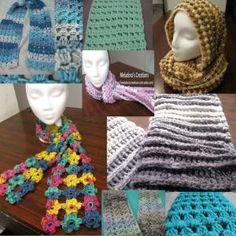 17 Free Scarf Crochet Patterns with video tutorials - Meladora's Creations by Diana Ivanova