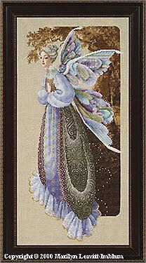 lavendar and lace grandmother fairy cross stitch