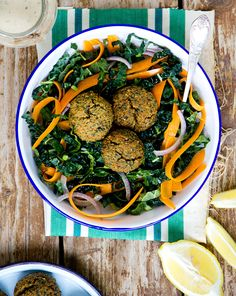 Recipe: Baked Red Lentil Falafel Salad — Recipes from The Kitchn
