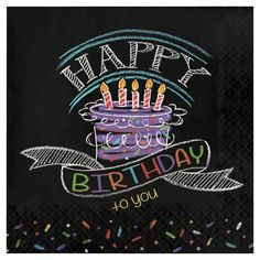 Chalkboard Birthday Lunch Napkins give your birthday party a crafty look! Chalkboard Birthday Lunch Napkins read 'Happy birthday to you' in colorful chalk. Happy Birthday Chalkboard, Happy Birthday Quotes, Happy Birthday Images, Birthday Messages, Happy Birthday Wishes, Birthday Greetings, Happy Birthday Cousin Male, Chalkboard Party, Blackboard Art