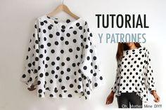 Patrones de blusas modernas 2018 -2019: Moldes de blusas de mujer, patrones de blusas para imprimir fáciles de hacer sencillas modernas y más