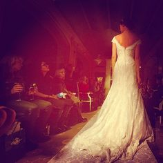 Oleg Cassini wedding gown, spring 2015 collection. Photo: Jennifer S. Altman/The New York Times.